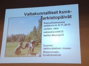 Conference at Finnish National Photo museum